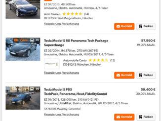 Tesla gebraucht kaufen Model S