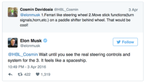Tesla Model 3 Produktionsstart mit Spaceship Cockpit