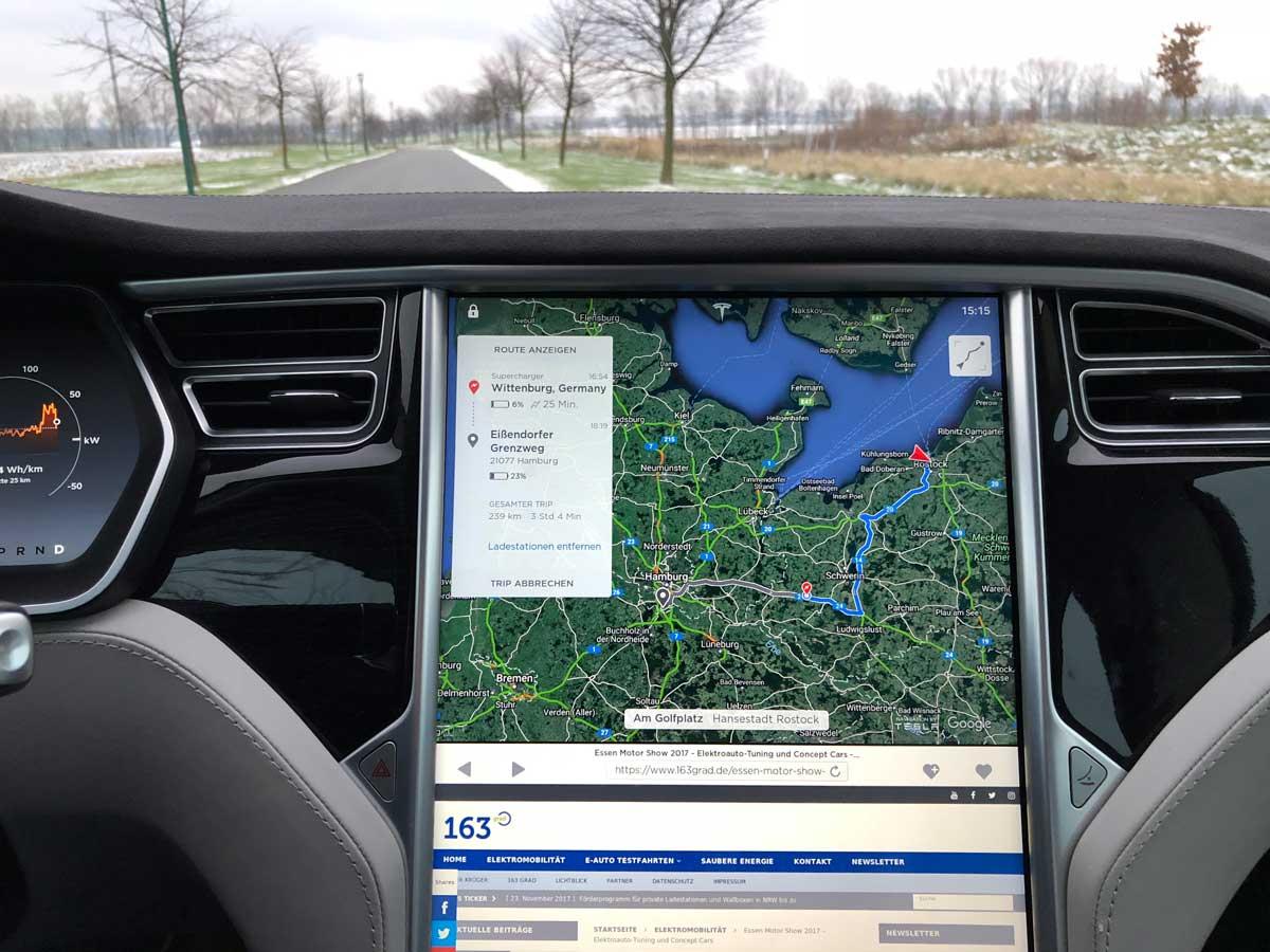 Tesla routenplaner