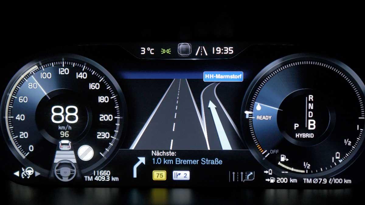 Volvo Sensus Fahrerdisplay | Foto: 163 Grad