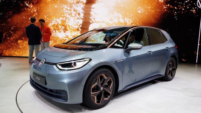 VW ID 3 Premiere auf der IAA 2019   Foto: 163 Grad