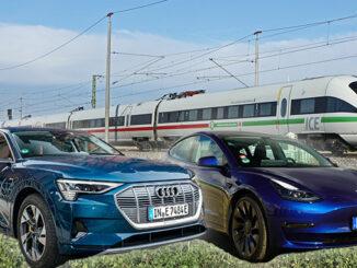 Tesla, Audi oder die Deutsche Bahn | Fotos: Deutsche Bahn AG / 163 Grad
