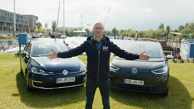 VW ID.3 im Vergleich zum VW e-Golf | Foto: 163 Grad